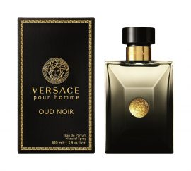 Versace Pour Homme Oud Noir by Versace for Men Eau de Parfum Spray 3.4 oz