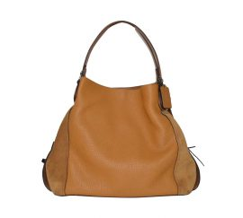 COACH Edie Shoulder Bag 42 in Mixed Leather Light Saddle