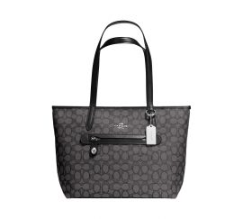 COACH Taylor Tote in Signature Jacquard in Black