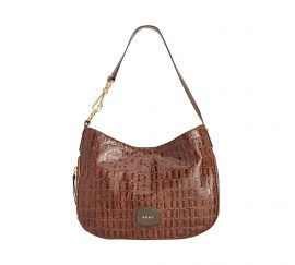 DKNY Randall Large Hobo Brown Croco