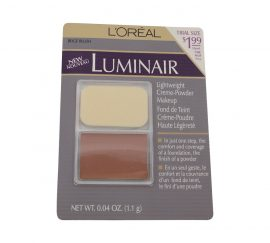 LOREAL LUMINAIR LIGHTWEIGHT CREME-POWDER MAKEUP, BEIGE BLUSH 0.04 OZ