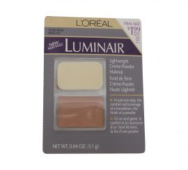 LOREAL LUMINAIR LIGHTWEIGHT CREME-POWDER MAKEUP, NUDE BEIGE 0.04 OZ
