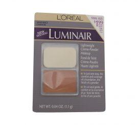 LOREAL LUMINAIR LIGHTWEIGHT CREME-POWDER MAKEUP, SAND BEIGE 0.04 OZ