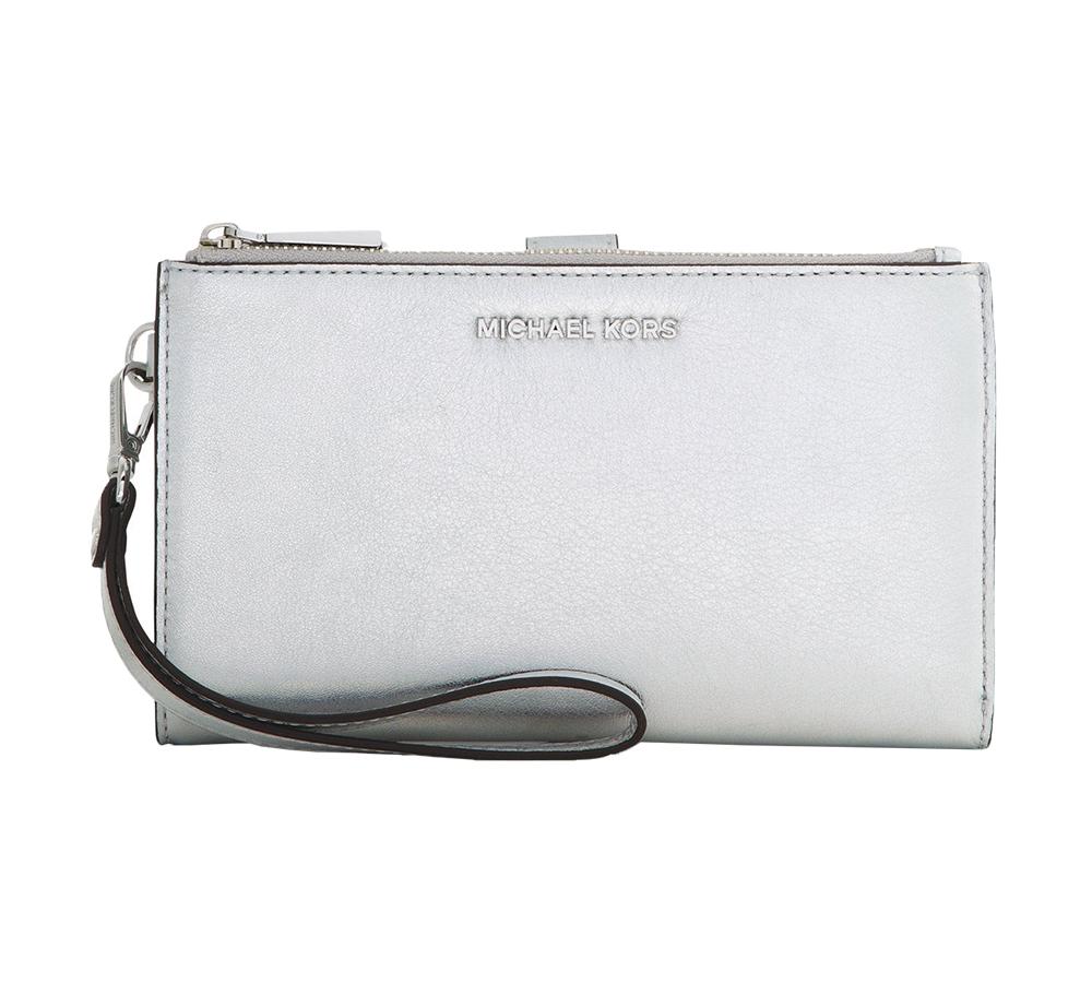 e748e11c0fe5da Shop for Michael Kors Adele Double Zip iPhone 7 Plus Wristlet Wallet ...