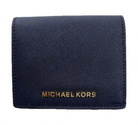 Michael Kors Admiral Blue Saffiano Jet Set Travel Bifold Wallet
