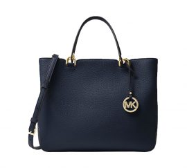 Michael Kors Anabelle Large Top Zip Tote Admiral Navy Blue