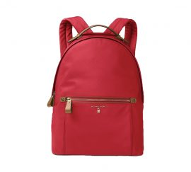 Michael Kors Kelsey Zip Large Backpack Bright Red Nylon