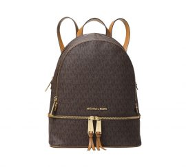 Michael Kors Rhea Signature Medium Backpack Brown