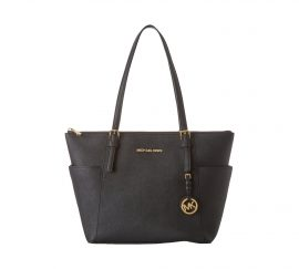 Michael Kors Womens Jet Set Item East West Top Zip Tote Black