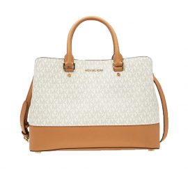 Michael Kors large Savannah Satchel Vanilla