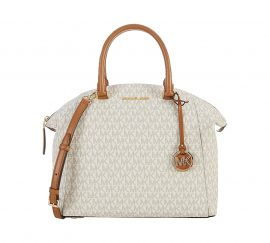Michael Kors Riley Large Vanilla Satchel