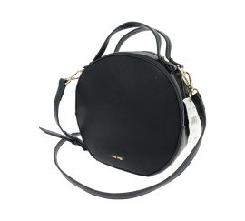 Nine West Devonna Black Medium Round Crossbody Handbag