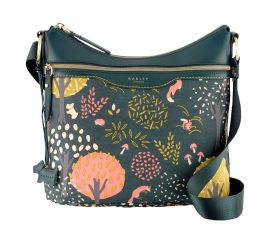 Radley Epping forest medium ziptop hobo bag, Green