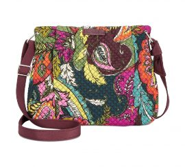 Vera Bradley Hadley Crossbody Signature Cotton Autumn Leaves