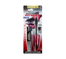 L'Oreal Paris Voluminous Butterfly Intenza Waterproof Mascara, 381 Blackest Black, 0.23 fl oz