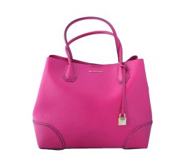 Michael Kors Mercer Gallery Medium Leather Satchel Ultra Pink