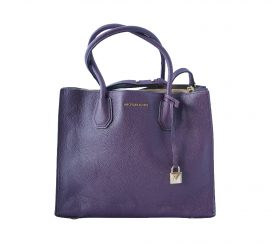 Michael Kors Mercer Large Convertible Tote Purple