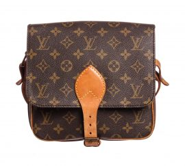 Louis Vuitton Monogram Canvas Leather Cartouchiere GM Shoulder Bag