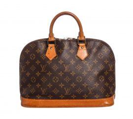 Louis Vuitton Monogram Canvas Leather Alma PM Handbag