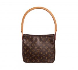 Túi đeo vai bằng da canvas Louis Vuitton Monogram Looping