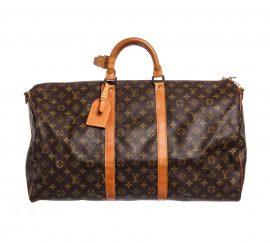 Louis Vuitton Monogram Canvas Leather Keepall 55cm