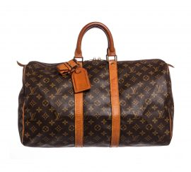 Louis Vuitton Monogram Canvas Leather Keepall 45cm
