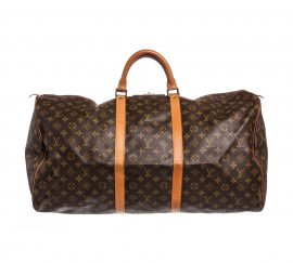 Louis Vuitton Monogram Canvas Leather Keepall 60cm