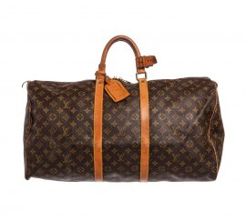 Louis Vuitton Monogram Canvas Leather Keepall 50cm