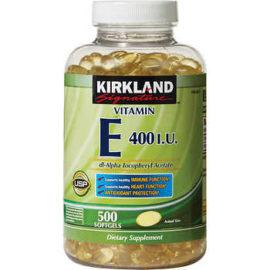 Vitamin E 400 IU Kirkland Signature, 500 Viên nang mềm