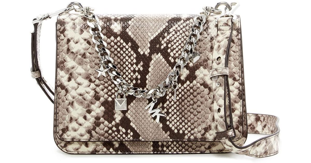 85037663e355 Shop for Michael Kors Large Charm Swag Python Embossed Leather ...