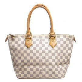 Louis Vuitton Damier Azur Canvas Leather Saleya PM Bag