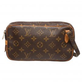 Louis Vuitton Monogram Canvas Leather Marly Crossbody Bag