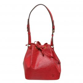 Louis Vuitton Red Epi Leather Petit Noe PM Drawstring Shoulder Bag