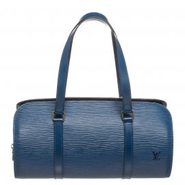 Louis Vuitton Blue Epi Leather Soufflot Shoulder Bag