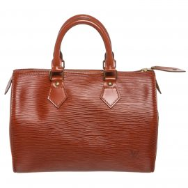 Louis Vuitton Sienna Brown Epi Leather Speedy 30 cm Satchel Bag