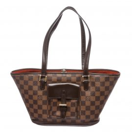 Louis Vuitton Damier Ebene Canvas Leather Manosque PM