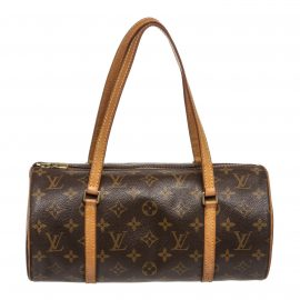 Louis Vuitton Monogram Canvas Leather Papillon 30 cm Shoulder Bag