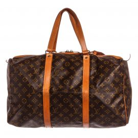 Louis Vuitton Monogram Canvas Leather Sac Souple 45 cm Duffle Bag