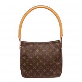 Louis Vuitton Monogram Canvas Leather Looping MM Shoulder Bag current