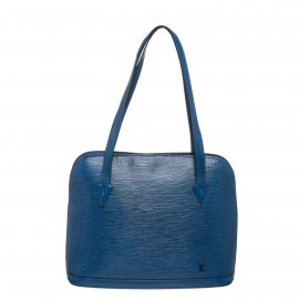 Louis Vuitton Blue Epi Leather Lussac Shoulder Bag