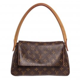 Louis Vuitton Monogram Canvas Leather Mini Looping Bag