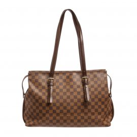 Louis Vuitton Damier Ebene Canvas Leather Chelsea Shoulder Bag