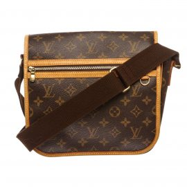 Louis Vuitton Monogram Canvas Leather Bosphore Messenger PM Handbag