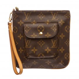 Túi Louis Vuitton Monogram Canvas Leather Partition Khóa Vặn