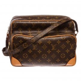 Túi đeo vai Louis Vuitton Monogram Nile MM Da Canvas
