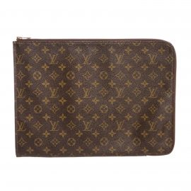 Louis Vuitton Monogram Canvas Leather Poche Document Holder
