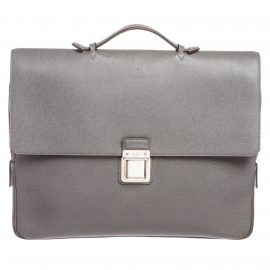 Louis Vuitton Gray Taiga Leather Vassili GM Briefcase Bag