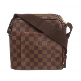 Túi Damier Ebene Canvas Leather Olav PM Da Canvas