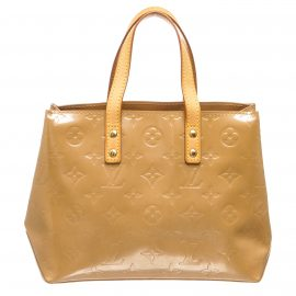 Louis Vuitton Beige Vernis Leather Reade PM Bag