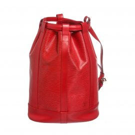 Louis Vuitton Red Epi Leather Randonne GM Backpack Bag